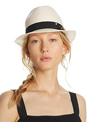 Aqua Embellished Fedora 100 Exclusive Natural Black