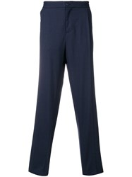 Salvatore Ferragamo Classic Flared Trousers Blue