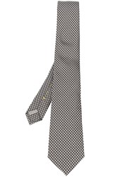 Canali Embroidered Tie Grey