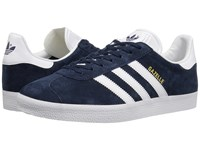 Adidas Gazelle Sport Pack Collegiate Navy White Gold Metallic Men's Tennis Shoes Blue