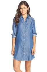 Tart 'Jenine' Chambray Shirtdress Dark Denim Wash