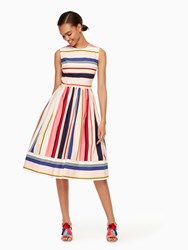 Kate Spade Berber Stripe Fit And Flare Dress Multi
