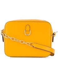 Ralph Lauren Cross Body Mini Bag Yellow And Orange