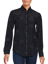 Zadig And Voltaire Solid Cotton Shirt Black