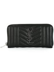 Saint Laurent Quilted Wallet Black