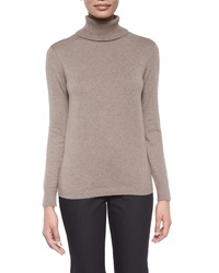 Lafayette 148 New York Long Sleeve Cotton Cashmere Turtleneck