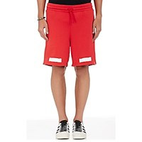 Off White C O Virgil Abloh Men's Graphic Cotton French Terry Shorts Red