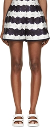 Mother Of Pearl Navy And White Floral Stripe Addison Shorts