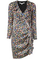 Veronica Beard Floral Print Mini Dress Multicolour