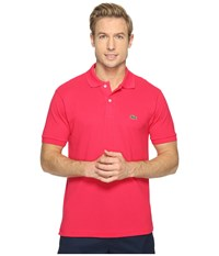 Lacoste L1212 Classic Pique Polo Shirt Fuchsia Men's Short Sleeve Knit Pink