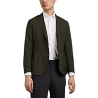 Brooklyn Tailors Worsted Wool Two Button Sportcoat Dk. Green