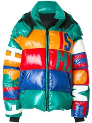 Faith Connexion Panelled Hooded Puffer Jacket Cotton Feather Down Polyamide Xs