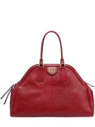 Gucci Maxi Dome Leather Top Handle Bag Dark Red