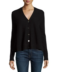 Minnie Rose Cashmere Swing Cardigan Black