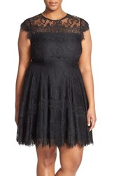 Plus Size Women's Bb Dakota 'Rhianna' Lace Fit And Flare Dress