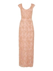 Shubette Embroidery Maxi Dress Taupe