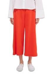 Topshop Women's Boutique Side Snap Trousers Red