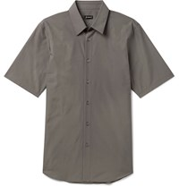 Jil Sander Slim Fit Cotton Poplin Shirt Gray