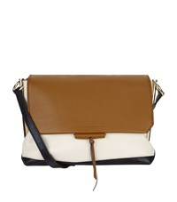 Sandro Leather Cross Body Bag Brown