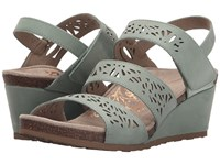 Aetrex Lexi Wedge Sandal Mint Women's Wedge Shoes Green
