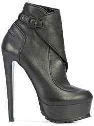 Vera Wang Wrapped Ankle Boots Calf Leather Leather Black