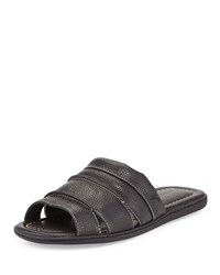 Tommy Bahama Archer Leather Slide Sandal Black