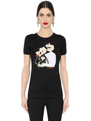 Dolce And Gabbana Family Patches Cotton Jersey T Shirt