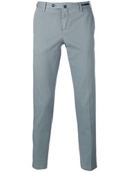 Pt01 Cropped Skinny Trousers Grey