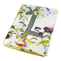 Roberto Cavalli Bird Ramage Silk Throw White 130X180cm