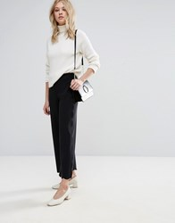 Mango Ruffle Trousers Black
