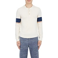 Solid And Striped Men's Sleeve Henley Ivory