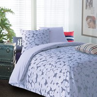 Tommy Hilfiger Blue Satin Duvet Cover And Pillowcase Set King