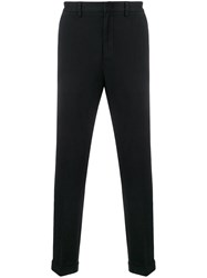 Z Zegna Moleskin Chino Trousers Black