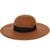Reiss Ana Wide Brim Hat Tan
