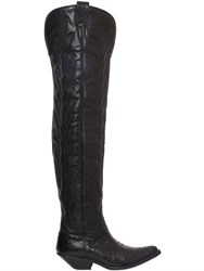 Sonora 40Mm Python And Leather Tall Cowboy Boots