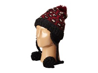 San Diego Hat Company Knh3372 Knit Beanie Trapper With Pom Poms Leopard Beanies Animal Print