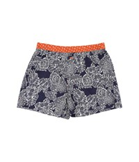 Tommy Bahama Island Washed Cotton Woven Boxer Royal Palm Navy Men's Underwear Gray