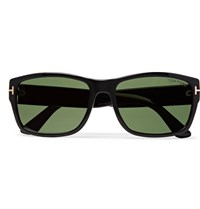 Tom Ford Mason Square Frame Acetate Sunglasses Black
