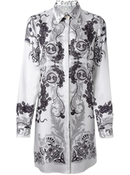 Versace Collection Printed Shirt Tunic White