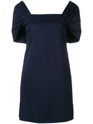 Theory Square Neck Dress Blue