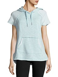 Calvin Klein Cotton Blend Hooded Pullover Blue Radian
