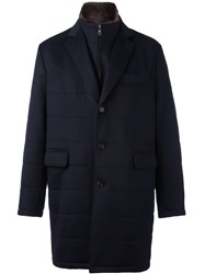 Liska Single Breasted Coat Blue