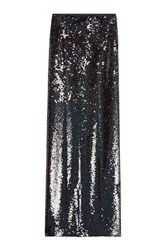 Mcq By Alexander Mcqueen Sequin Maxi Skirt With Slit Black
