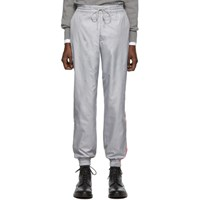 Thom Browne Grey Stripe Ripstop Track Pants