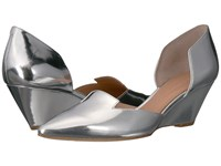 Sigerson Morrison Wenda Silver Specchio Mirror Leather Women's Shoes