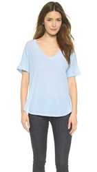 Stateside Royal Loose V Neck Tee Bleach Blue