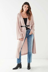 Out From Under Charlie Maxi Hoodie Cardigan Ivory