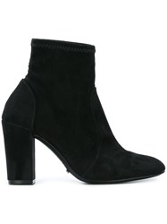 Schutz Almond Toe Ankle Boots Black