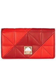 Sonia Rykiel Red Leather Matelasse Wallet