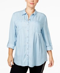 Styleandco. Style Co. Plus Size Denim Shirt Only At Macy's Ice Wash